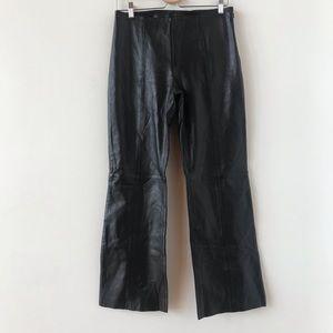 Cache lamb leather black pants
